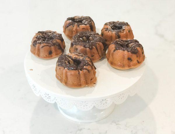 mini chocolate chip bundt cakes