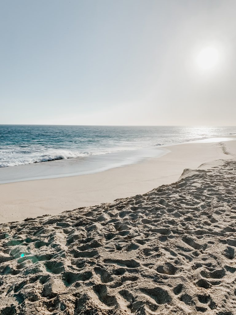 Beautiful beach in front of the Pueblo Bonito Pacifica Resort in Cabo San Lucas, Mexico.
