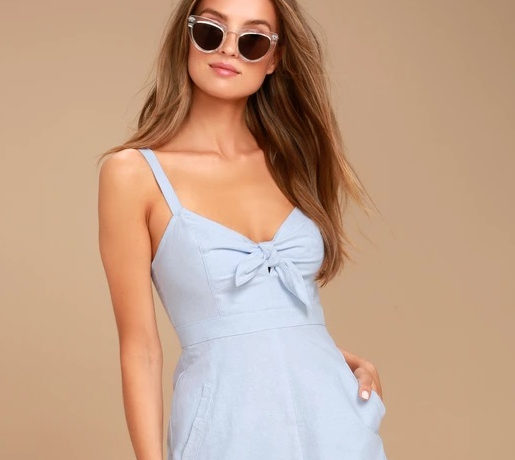 Lulus Chambray Dress