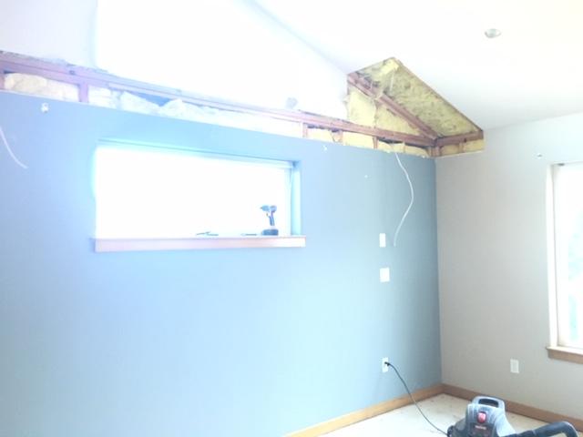 master bedroom remodel makeover redesign - in process.