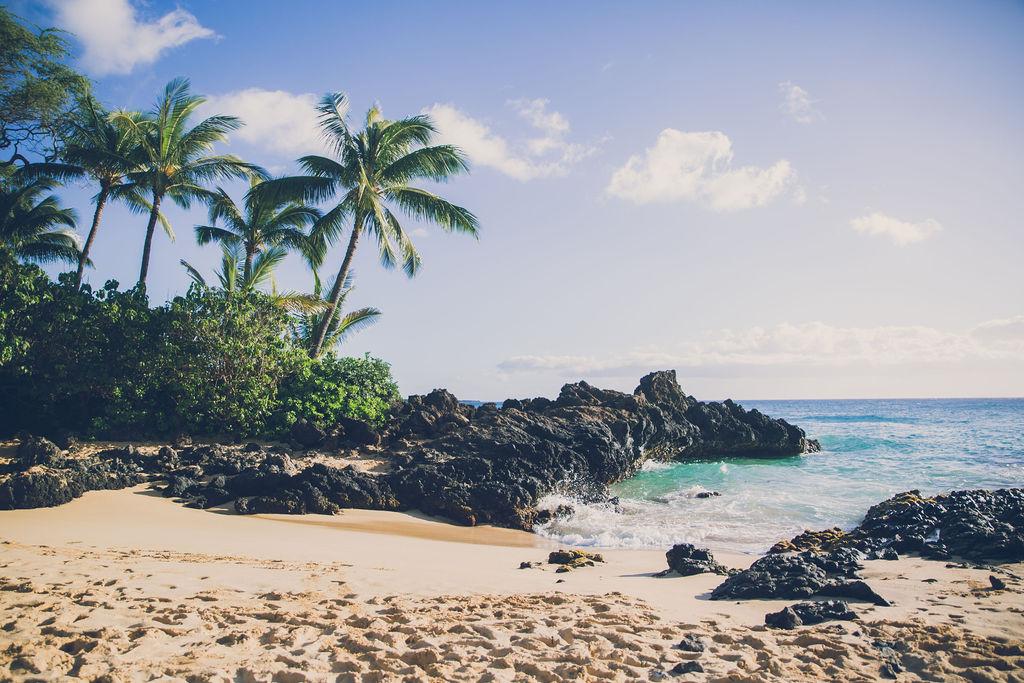 Gorgeous beach - backdrop for our Maui family photo shoot