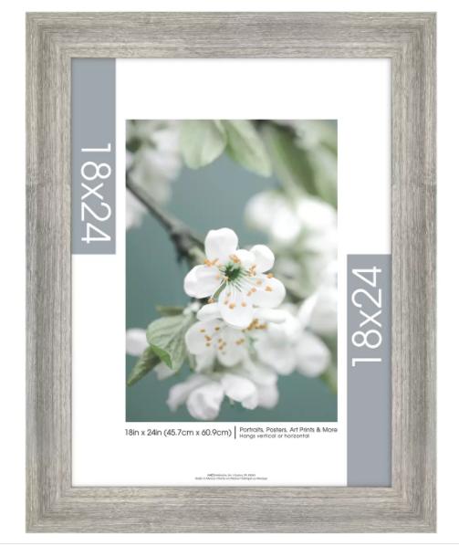 large gray frame