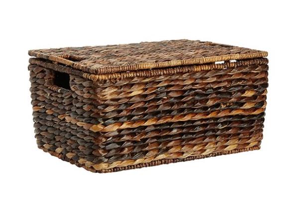 seagrass lidded basket pottery barn