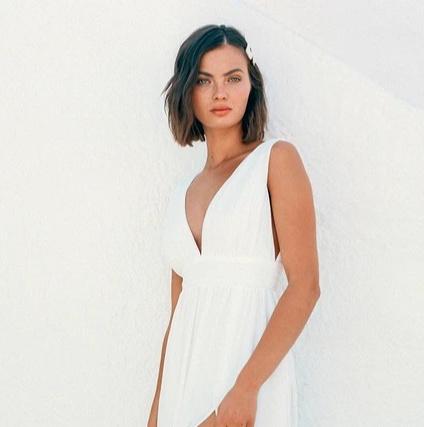 Lulus white maxi dress