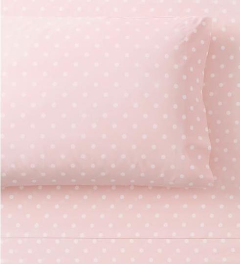 pb teen dottie sheet set pink