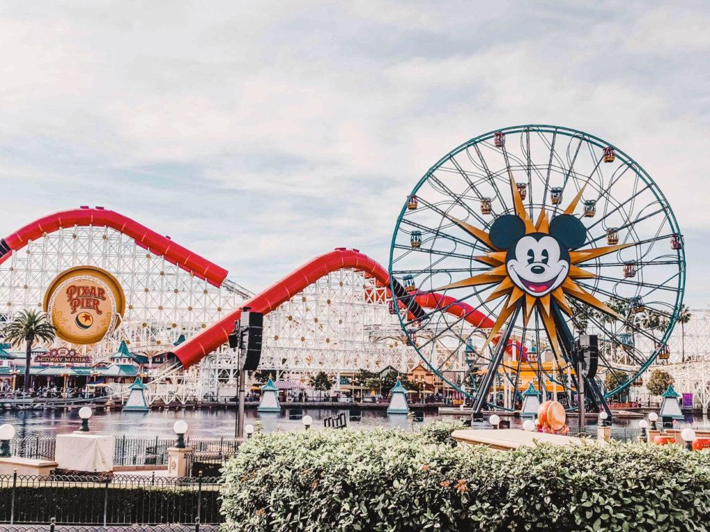 California Adventure Pixar Pier Mickeys Ferris Wheel.