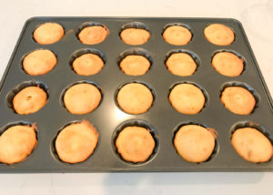 lemon cakes done fresh out of oven