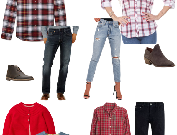 family photo outfit ideas red plaid