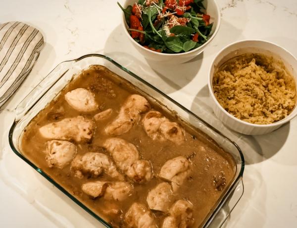 chicken and wine main dish