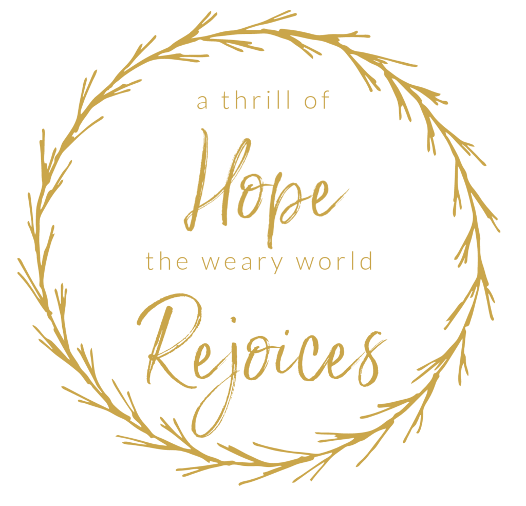 a thrill of hope the weary world rejoices free printable sign december christmas.