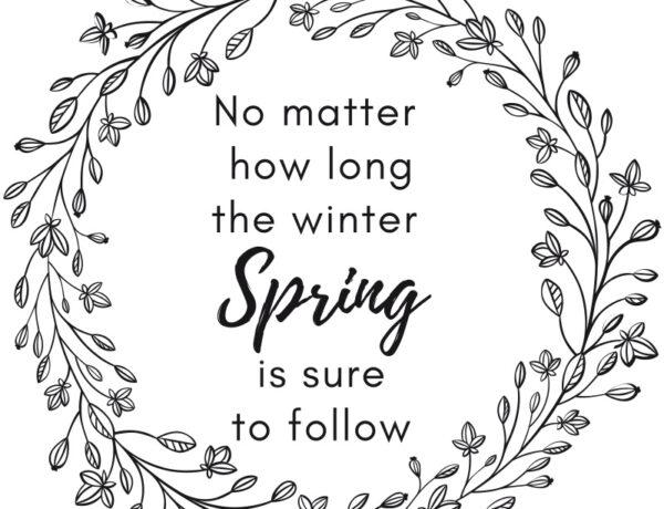 free spring printable sign