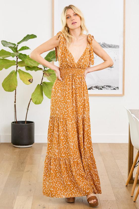 My Heart Goes Golden Yellow Floral Print Lulus dress summer dress holiday dress vacation dress cruise dress 2021