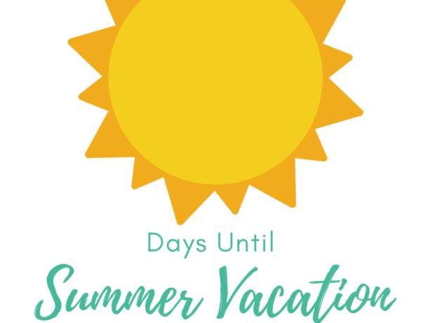 summer vacation countdown free printable sign